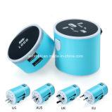 Дорожный адаптер переменного тока универсального зарядного устройства USB адаптер 5V 3.1A на стене с помощью светодиодной выход