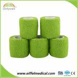 Fasciatura coesiva liberamente non tessuta dello Spandex di alta qualità con il lattice