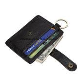 Kundenspezifisches Rindleder-Leder-dünne Kreditkarte-Halter-Mappe des Firmenzeichen-RFID