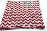 Avançon tricoté lourd de boucle d'impression d'onde mélangé par couleur chaude unisexe de l'hiver (SK170)