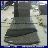 Grafsteen in de Zwarte en Paradiso van Shanxi van het Graniet van Twee Kleuren