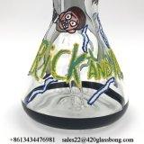 Rick-und Morty handgemaltes Entwurfs-Glasbecher-Glasrohr-Glaswasser-Rohr-Pfeife