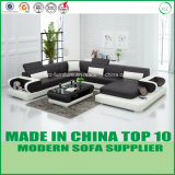 Holzrahmen-Wohnzimmer-Leder-Sofa-Bett