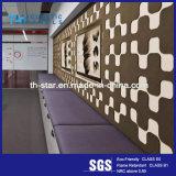 Красивые лазерной гравировки полиэфирные волокна акустическим оформлением панели