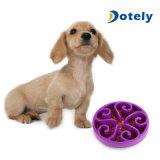 Envase limpio fácil de los animales domésticos de la consumición del silicón sano del Lento-Tazón de fuente