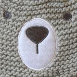 Малыши младенца детей связали шлем Beanie Mitten перчаток вышивки печатание медведя теплый (HW634S)