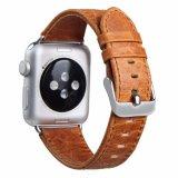 De gekke Banden van het Horloge van het Leer van het Paard Echte voor Appel Iwatch 38mm 42mm