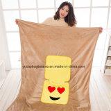 Coperte divertenti pieghevoli del cuscino di Emoji