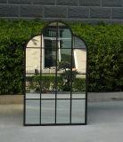 Espejo derecho antioxidante e impermeable negro del jardín