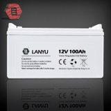 Batterie solaire 12V 100ah, batterie d'acide de plomb de gel de cycle profond avec le prix bon marché, du système solaire