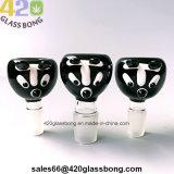 Recipientes de cristal de gama alta lindo perro para fumar los tubos de agua y vasos de precipitados de 14mm/18mm conjunto macho/hembra