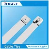 Ataduras de cables de plata del acero inoxidable para el cable y el tubo 4.6X450m m