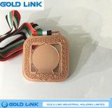 Le métal de médaille de souvenir ouvre le cadeau fait sur commande de promotion de l'Inde de médaille