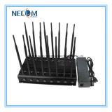 Antena de alta potencia 16 Teléfono móvil y GPS y WiFi y VHF/UHF Jammer, celular, control remoto, radio VHF/UHF Jammer/Blocker