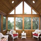 Sunroom de madera del metal del color con la ventana de desplazamiento