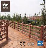Compuesto de plástico Oudoor WPC barandilla de madera para jardín