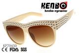 Солнечные очки с большим количеством блестящих камней на позорным пятном и храм Kp70450