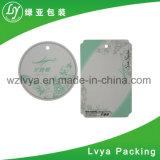 Tag de papel impresso UV do cair de /Clothing do vestuário com os acessórios de harmonização da corda