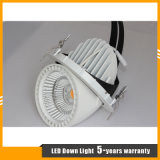 lámpara giratoria del interior del departamento Downlight/de la dimensión de una variable LED del tronco del cardán 45W