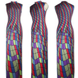 Großverkauf-späteste Frau gedruckte Sleeveless Maxi Kleider