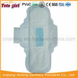 Algodão macio descartáveis de segurança alado e melhor qualidade de pensos higiénicos para as mulheres o uso diário