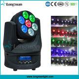Lumière pointue principale mobile de RGBW 7PCS 15W DEL pour le DJ