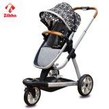 Carro de bebê de três rodas portátil