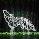 New Design Forest wolf 2D Motif Light for indoor outdoor Decoration