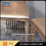Muebles de jardín de acero inoxidable oro rosa silla banquetes