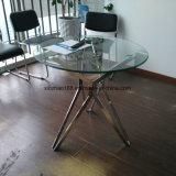 Tavolino da salotto moderno di vetro dell'acciaio inossidabile di stile