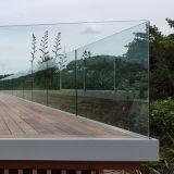 Sistema de pasamano de aluminio del balcón del canal U del panel del vidrio laminado