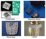 3W 5W 8Wの紫外線移動式腕時計は金属レーザーのマーキングの彫版機械に電話をかける