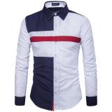 Camicia degli uomini delle nuove camice casuali dalle camice degli uomini Long-Sleeved del vestito casuale