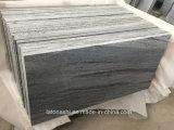Granito grigio fiammeggiato Nero Santiago che pavimenta per il percorso del giardino ed esterno