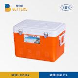 Casella di attrezzatura di plastica di pesca del dispositivo di raffreddamento del ghiaccio del PE portatile di Rotomolded