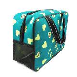 Commerce de gros Brand designer Cheap poignée personnalisé Sac cosmétique Promotion Tolietry sac de lavage pour dame
