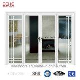 Profil en aluminium porte coulissante Portes de bureaux avec porte coulissante en verre