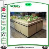 Hölzernes Gemüse-Frucht-Bildschirmanzeige-Regal verwendet