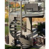 Escalera espiral elegante moderna de DIY/arte al aire libre Escalier de la escala/del hierro