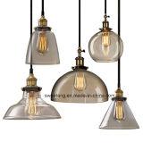 Lámpara pendiente de la lámpara de cristal de interior para el restaurante decorativo