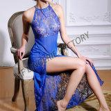 Sous-vêtements modaux coupés par haute sexy à la mode de lingerie de robe de lacet longs