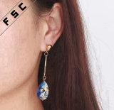 女性のための熱い販売の卸し売り方法デザイン金によってめっきされるブランドのイヤリング