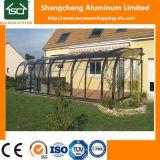 Aluminium approuvé de Terrasoverkapping de la CE avec la feuille en verre de porte coulissante et de polycarbonate