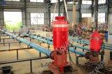 Ligne verticale de l'arbre de pompe de puits profond centrifuge en ligne