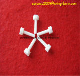 A alumina de cabeça sextavada Al2O3 Parafuso de cerâmica haste roscada de cerâmica