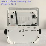 무선 건전지 재충전용 무선 통제 15wx9 LED 동위 빛