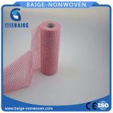 A cor-de-rosa imprimiu a tela não tecida de Spunlace para Wipes da limpeza