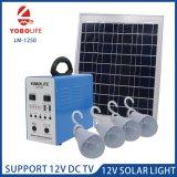 La estación de energía solar portátil con 5pcs bombillas de 12 V El Puerto de salida