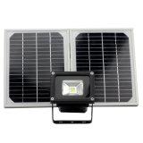 angeschaltener Solarscheinwerfer des Flutlicht-10W, im Freien wasserdichtes Sicherheits-Licht für Haus, Garten, Rasen, Pool