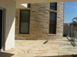 Tegels van het Zandsteen van de Stenen van de decoratie de Materiële Natuurlijke Houten Gele/Plakken/de Tegels van de Muur/de Tegels van de Straatsteen